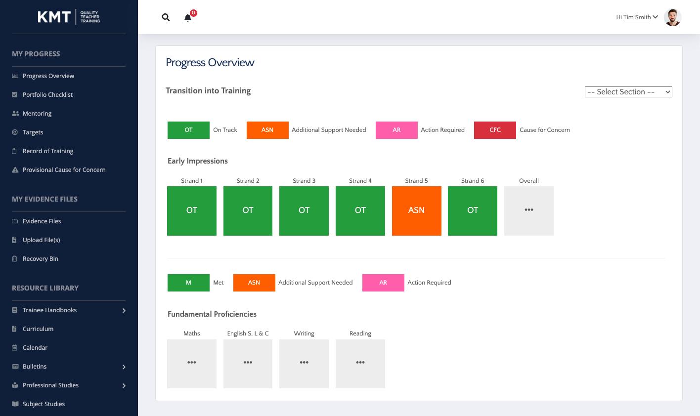 Trainee Teacher Platform